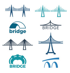 Bridge logos collection of isolated vector