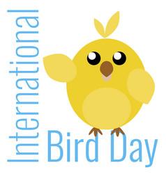 Card to bird day vector