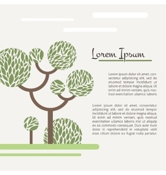 Card with a picture of a green tree vector