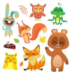 Cartoon woodland animals vector