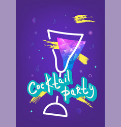 Cocktail party template vector
