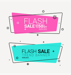 creative promotion ribbon banner isolated on vector image