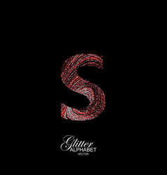 Curly textured letter s vector