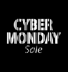Cyber monday inscription bar code style vector