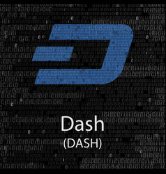 Dash cryptocurrency background vector