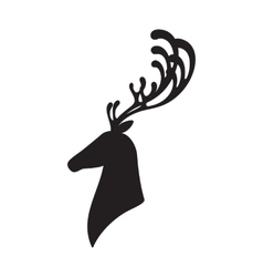 Deer head isolated elk vector image