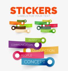 Design elements set of colour paper sticker vector