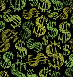 Dollar symbols seamless pattern money theme vector