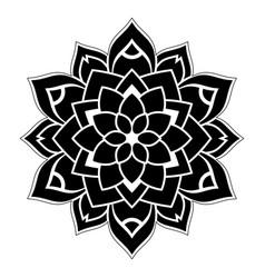 Dotted black mandala vector