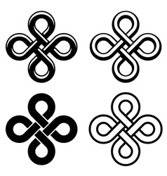 Endless celtic black white knots vector