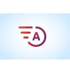 Fast line letter A logo monogram vector