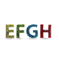 Fingerprint typography vector image