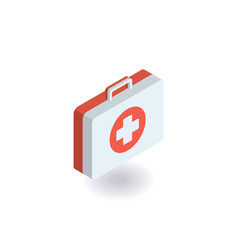 First-aid kit medicine chest icon vector