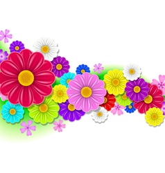 Floral background flowers vector
