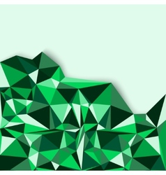Geometric abstract background in green tones vector