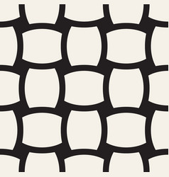 geometric seamless pattern with curved shapes vector image