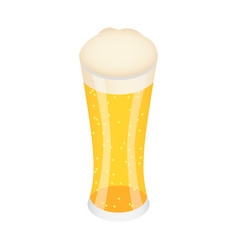 glass of german beer icon isometric style vector image