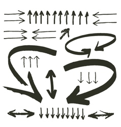 Hand drawn arrows vector