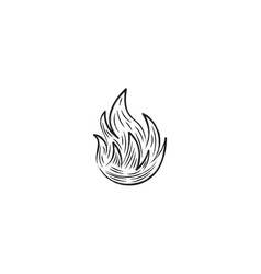 Hand drawn fire logo designs inspiration isolated vector