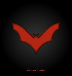 happy halloween mask background with bat vector image