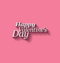 happy valentines card vector image