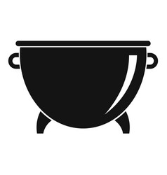 kitchen cauldron icon simple style vector image