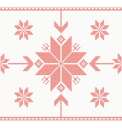Knitted stars in Norwegian style vector image