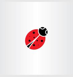 ladybug icon symbol element vector image