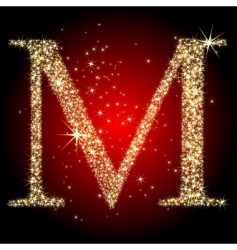 Letter star m vector