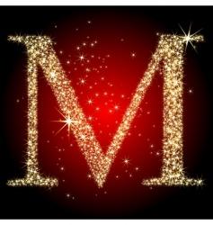 letter star m vector image
