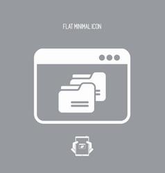 Managing folders application - flat minimal icon vector