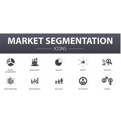 Market segmentation simple concept icons set vector