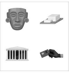Mask cheese and other monochrome icon in cartoon vector