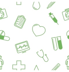 Medical icons seamless background pattern vector
