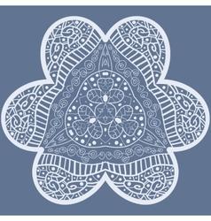 mehndi like flower vector image