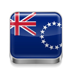 Metal icon of Cook Islands vector