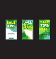 modern fluid for big sale banners design discount vector image