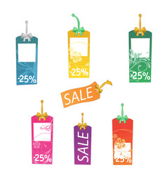 Multicolored sale labels vector