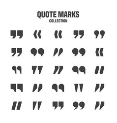 quotation marks collection black quotes vector image