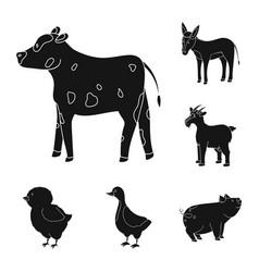 ranch and organic symbol vector image