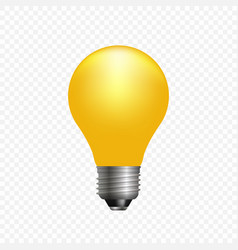 realistic 3d light bulb template for your design vector image
