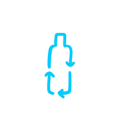 recycle bottle logo doodle icon vector image