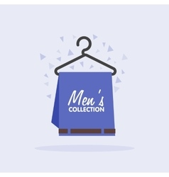 Sales of mens clothing collection vector