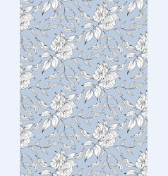 Seamless pattern with rosa canina vector