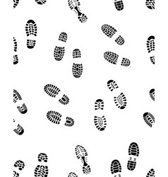 Seamless prints of shoes vector