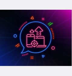 seo devices line icon web targeting sign traffic vector image