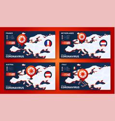 Set coronavirus banner outbreak from wuhan vector
