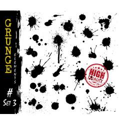 Set grunge style blood or ink splatter vector