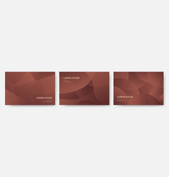 Set luxury copper dynamic modern abstract vector