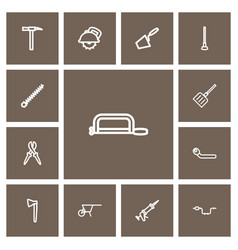 Set of 13 editable apparatus outline icons vector